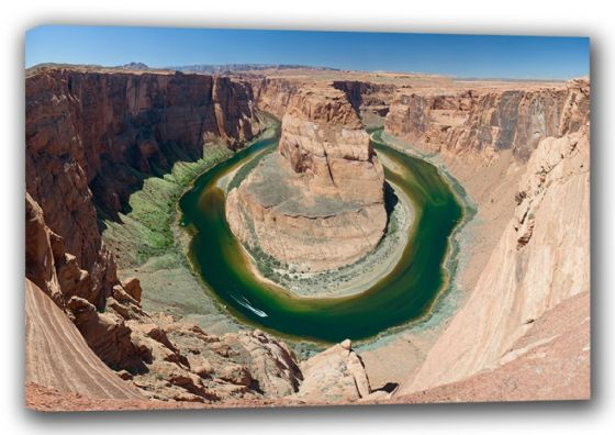 Horse Shoe Bend, Grand Canyon, Arizona. Landscape/Scenic Canvas. Sizes: A3/A2/A1 (00332)